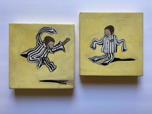 Two Curious George Paintings - Beautiful - Perfect for Baby