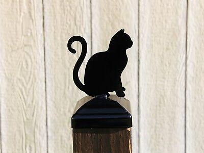 Cat lovers 4x4 post cap, Black Cat Decor Fence Post Cap,  ()