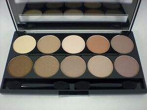 W7 10 out of 10 eyeshadow palette kit nude brown range
