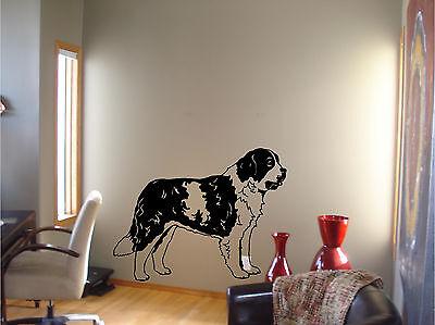 St Bernard Dog Breed Wall Sticker Vinyl Decal Stickers Wall Art Murals Decor - Breed Wall