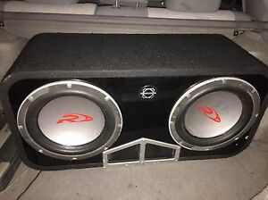 """2 12"""" type r subwoofers"""