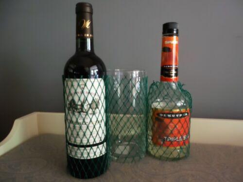 25 Mesh netting Protective sleeve Glass Bottle Fragile Liquor Wine Candle Holder
