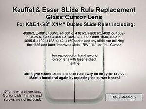 Replacement-K-E-SLide-Rule-Cursor-Glass-Lens-for-4081-7L