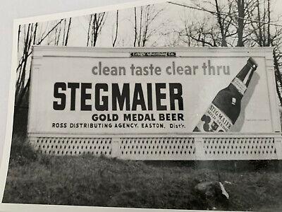 """STEGMAIER BEER BILLBOARD 1950's PHOTO 7 1/2""""X 5 1/2"""" VINTAGE HARDTO FIND"""