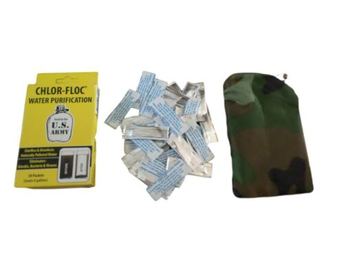 ARMY ISSUE WATER PURIFICATION POWDER PACKETS EMERGENCY 30 PACKETS PER BOX