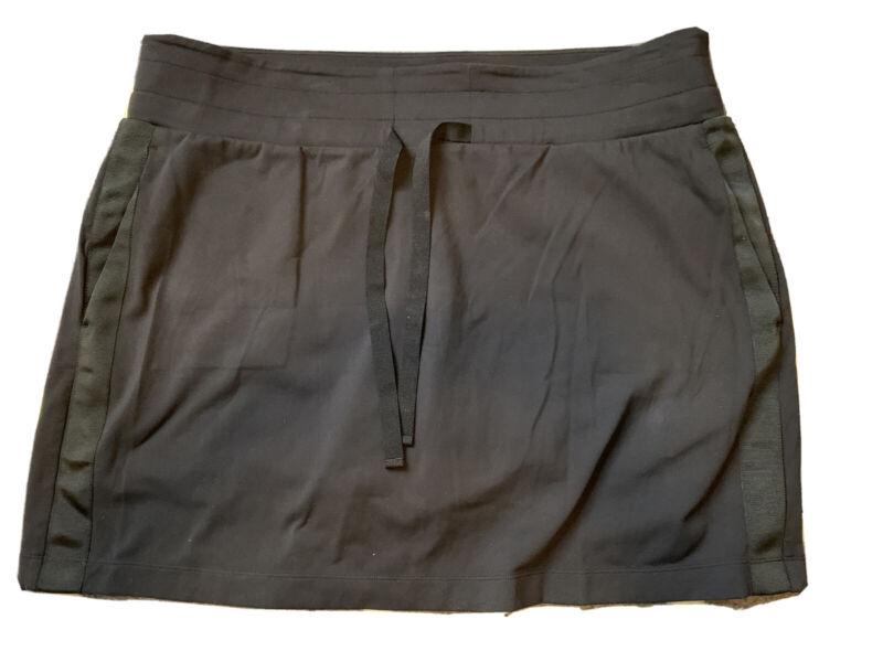 New Athleta Metro Downtown Athletic Skirt Shorts Skort Black Women