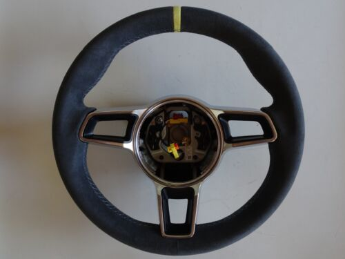 Porsche 991 R  997.2 Gt 3 Rs  Stick Shift Alcantara Steering Wheel Yellow  Top