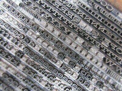 Letterpress Lead Type 12 Pt. Hellenic Wide - Bauer Type Foundry  B40