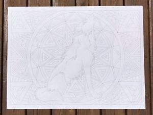 Giant Coloring Poster - Wolf (32