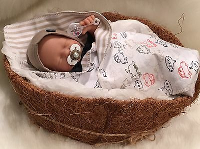 """HDM 9-10"""" BoY DoLL CLOTHES~PaCiFieR~ToY~FoR Micro Preemie Reborn's~Berenguer"""