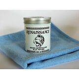 "Renaissance Wax - 200ml With a Blue 16""x16"" Commercial Grade Microfiber Cloth"