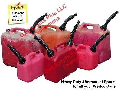 Gas Can Spout Aftermarket Wedco Versaflex Pouring Nozzle Sptcap Gasket Screen