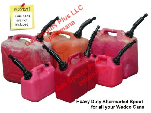 GAS CAN SPOUT AFTERMARKET WEDCO VERSAFLEX POURING NOZZLE +SPTCAP +GASKET +SCREEN