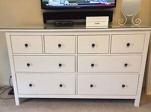Dresser with glass top