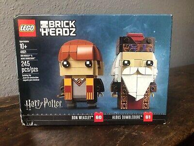 LEGO Brickheadz 41621 Albus Dumbledore 61 & Ron Weasley 60 New