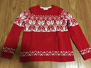 Boys red sweater size 8-10
