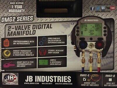 Jb Industries Dmg2-5 Digital Manifold Gauge Set 3 Hosesnew