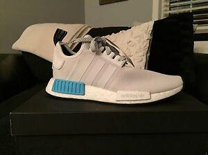 Adidas NMD R1 White/Cyan Size 7