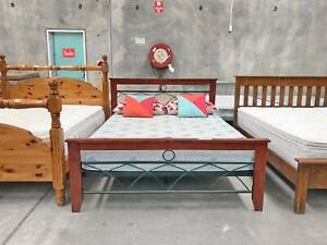 TODAY DELIVERY MODERN STRONG double bed (mattress available)