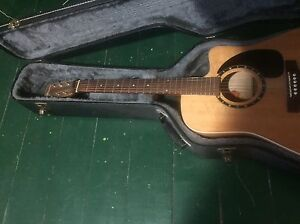 Norman acoustic guitar (cut off)  with amp pick up, amp