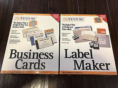 Free Label Maker - ProVenture Label Maker And Business Cards New Factory Sealed!! Fast Free Ship!!