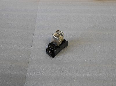 Omron 14 Pin Relay W/ Base, MY4ZN, 24VDC, Used, Warranty