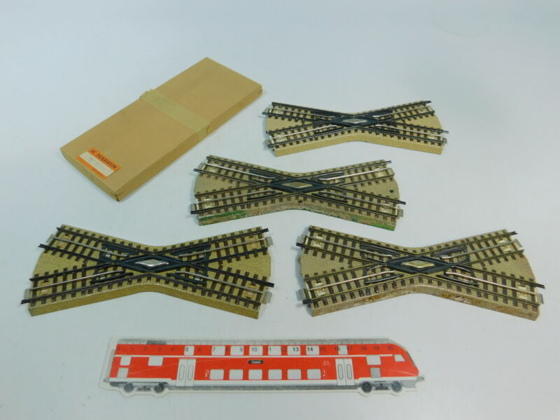 AR727-1 4x Märklin/Marklin H0/AC Crossing For 3600/2624 8/12ft-Gleis+1x Box