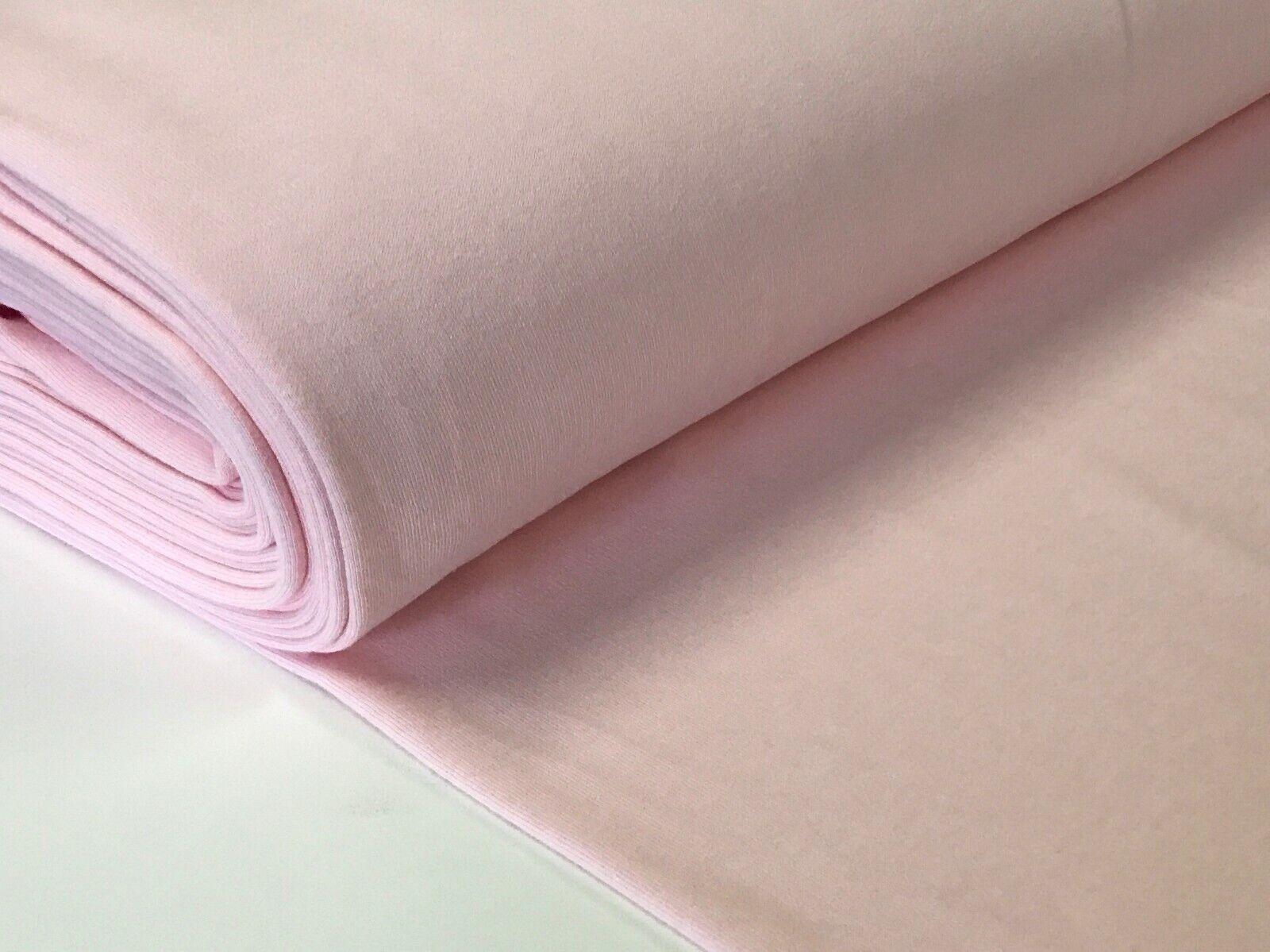 Sweatstoff meliert uni viele Farben METERWARE ÖKOTEX angeraut 140 cm breit Rosa