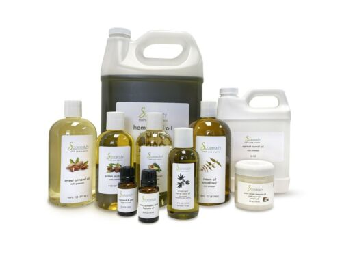 100% PURE ORGANIC CARRIER OILS REFINED UNREFINED 2 OZ TO 64 OZ by SOAPEAUTY