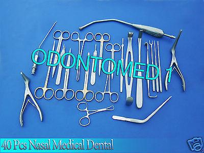 Nasal Set Of 40 Instruments Surgical Ent Medical Dental Ds 946