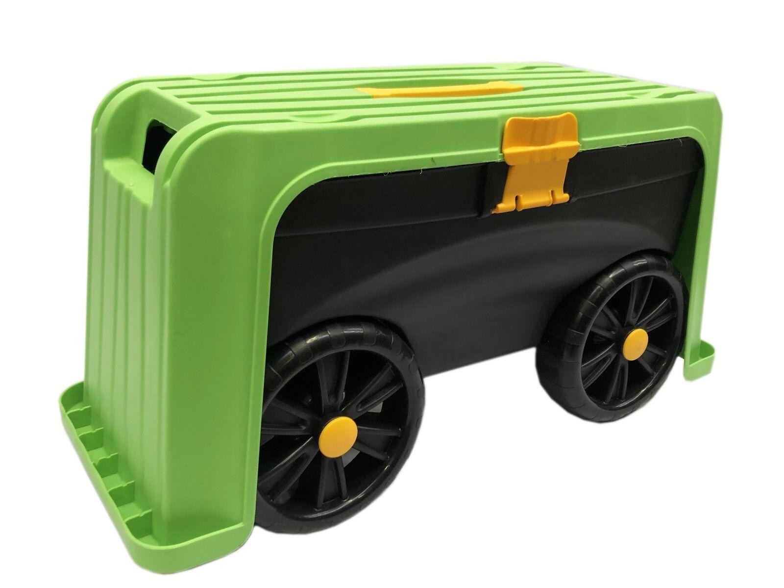 Garten Rollsitz Rollwagen mit Stauraum 4in1 Gartenhocker Handwagen Arbeitssitz