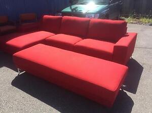 Brand new Red Jaquard Modular lounge suite w/Ottoman RRP. $2,499 Launceston Launceston Area Preview