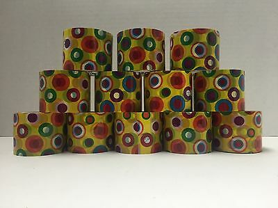 Decorative Plastic Packing Tape Duck Brand Polka Dots Lot Of 12 Rolls New