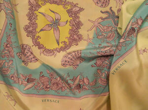 GIANNI-VERSACE-MADE-IN-ITALY-PURE-SILK-PANEL-FOR-SCARF-OR-SHIRT-CM-140-X-90