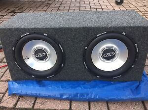 Subwoofers in box and amp