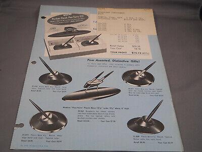 Parker Vintage Jotter wholesaler desk set catalog sheet--1956