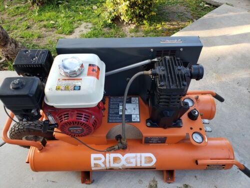 RIDGID 9 Gallon Portable Gas Powered Air Compressor Wheelbarrow 10.3 SCFM 90 PSI