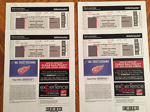 Detroit Red Wings - 4 tickets for $100