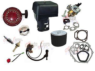 (Honda Gx390 Carburetor Recoil Pull Start Ignition Coil Gasket Air Filter Spark)
