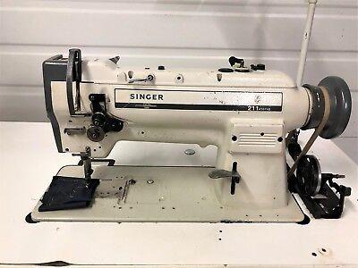 Singer 211a567ab Walking Foot Big Bobbin Reverse 110v Industrial Sewing Machine