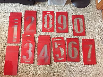 Outdoor Marquee Sign 11 Lot Of 41 Assorted Numbers Blanks Rigid