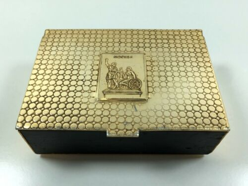 Antique snuff box vintage USSR cigar box tobacco Russian cigarette case Rare lot