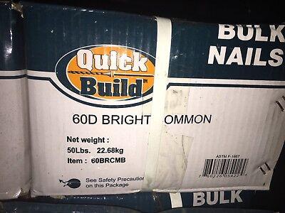 Quick Build 50lb Bright Common 60D Bulk Nails