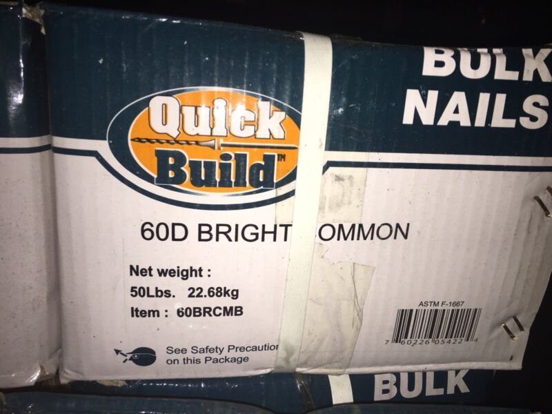 Quick Build 50lb Bright Common 60D Bulk Nails