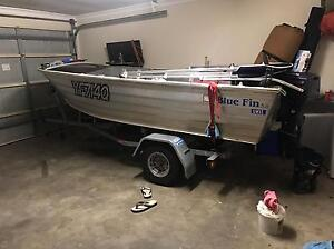 3.8 meter bluefin tinny high sides rego swap for mx bike Rothwell Redcliffe Area Preview
