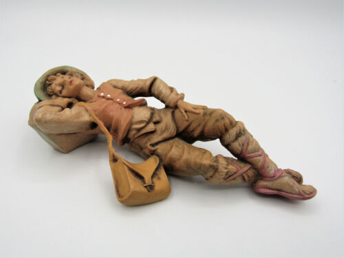 Vtg  Roman Fontanini Heirloom Nativity Collection Ephraim Sleeping Shepherd Boy