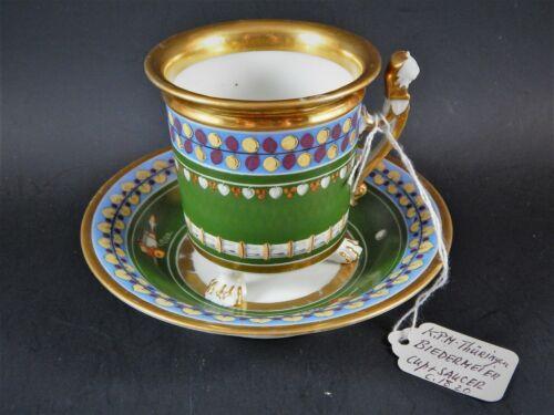 Antique 19thC KPM Thuringer Porcelain Biedermeier Cup & Saucer C.1820 Unmarked