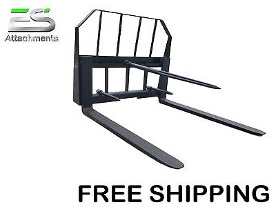 Es 48 Pallet Forkbale Spear Combo Quick Attach Skid Steer Loader Free Shipping
