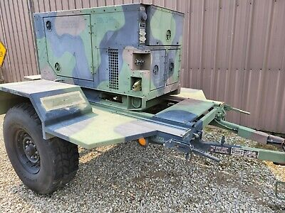 Fremont Mep-803a 10kw Military Generator And Trailer Low Hours 1 And 3 Phase