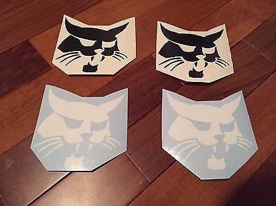 Bobcat Face Sticker 5 Set Of 2 Logo Skid Steer Vinyl Decal White Or Black